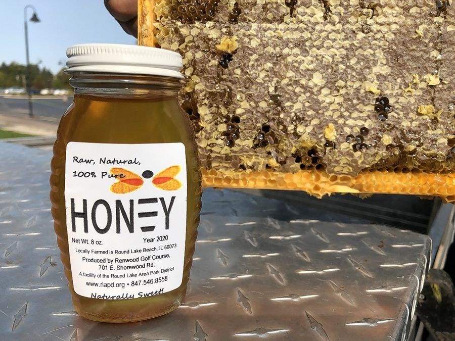 Honey produced on site is sold at Renwood Golf Course in Round Lake Beach.