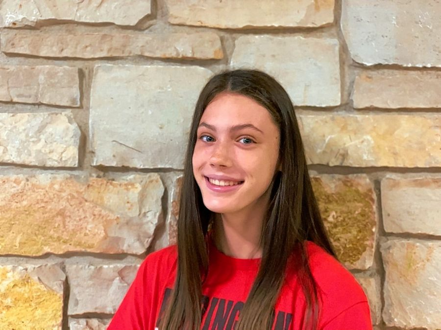 Barrington High School sophomore volleyball player Campbell Paris