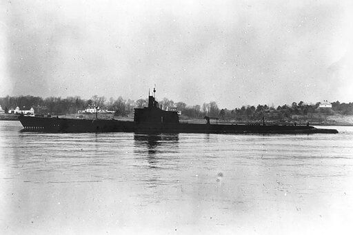 This Dec. 27, 1941, photo released by U.S. Navy shows USS Grenadier (SS-210) off Portsmouth, New Hampshire. Divers have found what they believe is the wreck of the U.S. Navy submarine lost 77 years ago in Southeast Asia, providing a coda to a stirring but little-known tale from World War II. (United States Navy via AP)