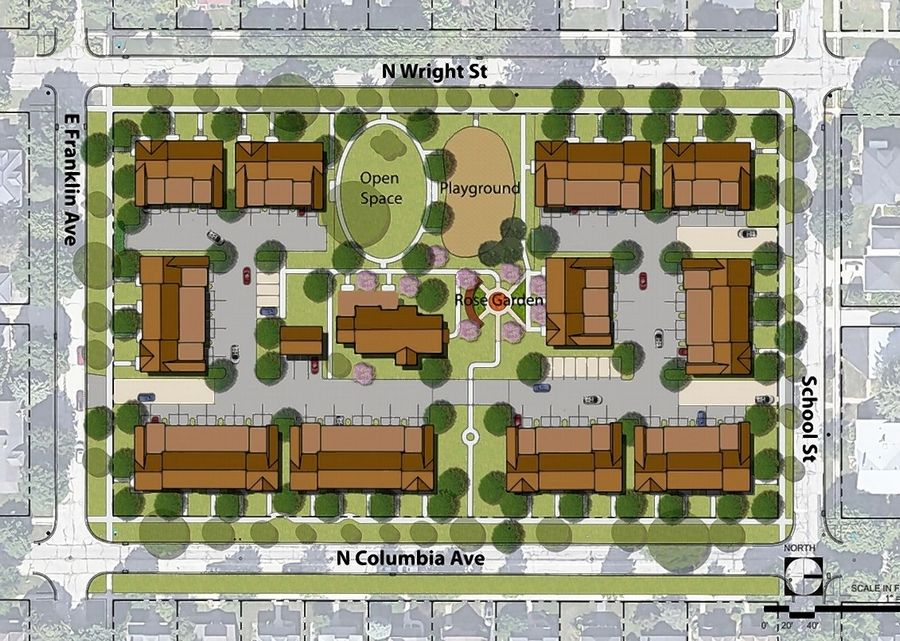 The Naperville planning and zoning commission unanimously supported plans to construct 11 townhouse buildings and repurpose the Kroehler mansion to create a total of 45 residential units on the Little Friends property. A public park, a rose garden and other open space and landscaping are also included in the plans.