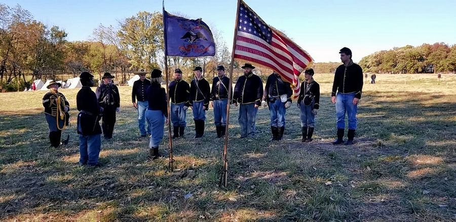 Civil War reenactors from the 8th Illinois Cavalry Regiment, seen here at a 2017 event in Wauconda, are gathering for an event Saturday at Camp Kane in St. Charles. Because of COVID-19 restrictions, the participants and spectators will wear masks, be socially distanced and crowds will be limited to 50 at a time.