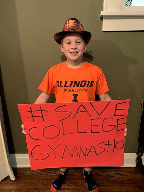Louie Diab, an 11-year-old from Glen Ellyn, is raising money Saturday in support of collegiate men's gymnastics programs.