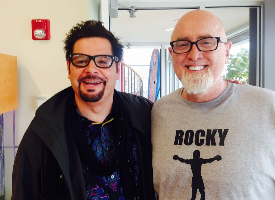 Radio show host Mancow Muller, left, and former Harvest Bible Church pastor James MacDonald, in happier times.