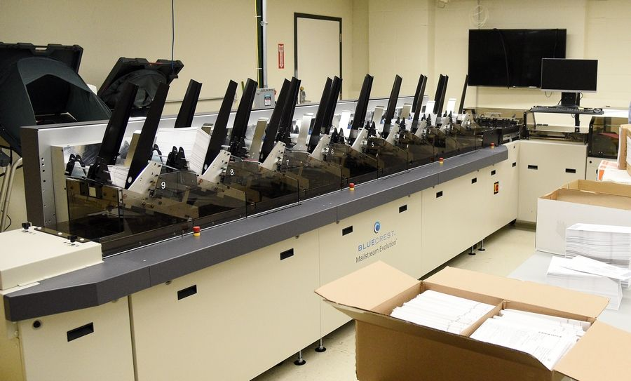A new automated ballot inverter will be used by the Kane County Clerk's office during the fall election to help with the volume of mail-in ballots.