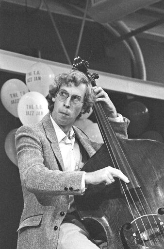 In this 1985 photo, provided by Mark Miller is Canadian bassist Neil Swainson during a performance in Toronto. A forgotten studio recording of the late jazz trumpeter Woody Shaw was released Sept. 11, 2020 on digital, as part of the latest effort to preserve jazz history. Vancouver, Canada-based Cellar Music Group's imprint Reel to Real and New York distributor la reserve records this month made available 'œ49th Parallel'� - a 1987 recording led by Canadian bassist Swainson that features Shaw and tenor saxophonist Joe Henderson. (Mark Miller via AP)