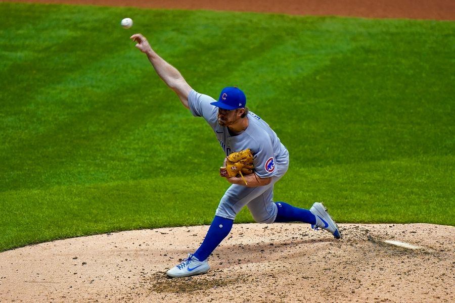 Cubs relief pitcher Rowan Wick throws during the eighth inning of a baseball game against the Milwaukee Brewers Friday, Sept. 11, 2020, in Milwaukee.