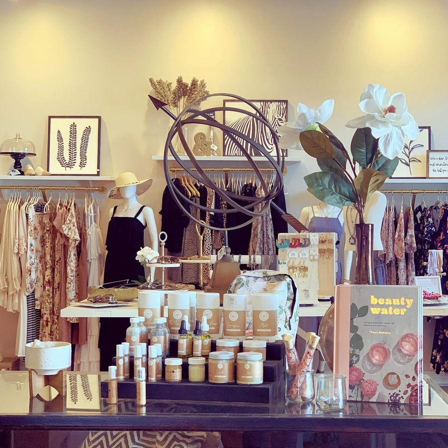 Aurora's Wyckwood House features a curated selection of gifts, clothing, jewelry and home furnishings.
