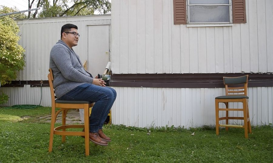 Earning his doctoral degree at Northwestern University, Oscar Cornejo Casares lives in his family's Park City mobile home, and continues to work on immigration issues.