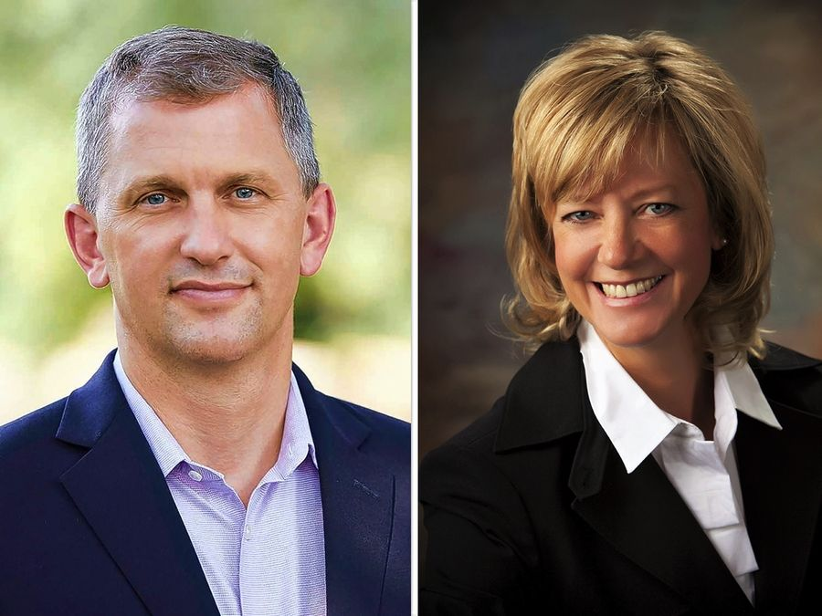 Sean Casten, left, and Jeanne Ives, right, are candidates for the 6th Congressional District race in the 2020 November general election.