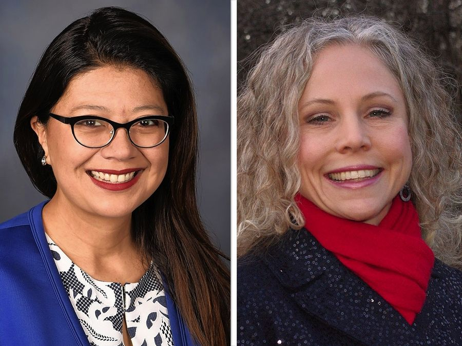 Karina Villa, left, and Jeanette Ward, right, are candidates for State Senaor 25th Legislative District  in the 2020 election.