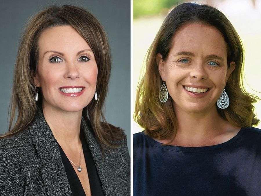 Laura Curtis, left, and Maura Hirschauer are vying for the Illinois House District 49 seat on Nov. 3.