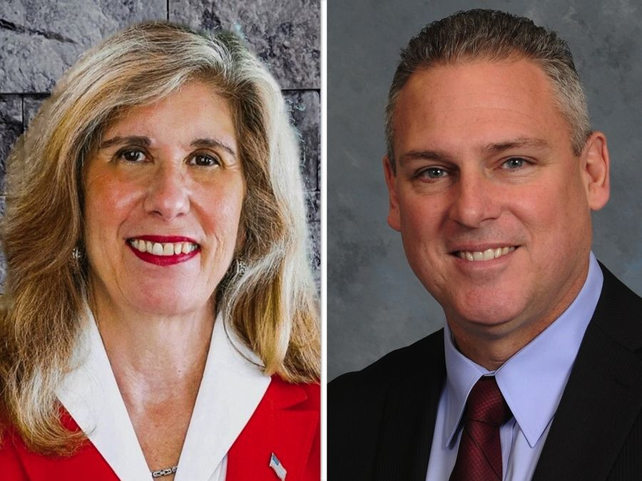 Kate Monteleone, left, and incumbent Keith Wheeler are candidates for state representative in the 50th District.