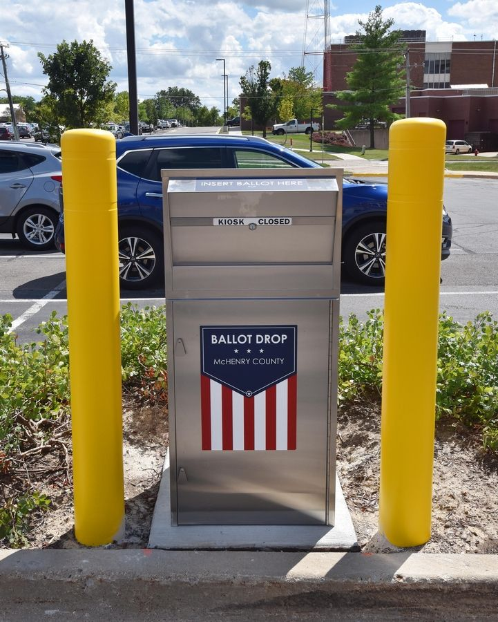 McHenry County has installed a ballot drop box in front of the administration building at 667 Ware Road, in Woodstock.