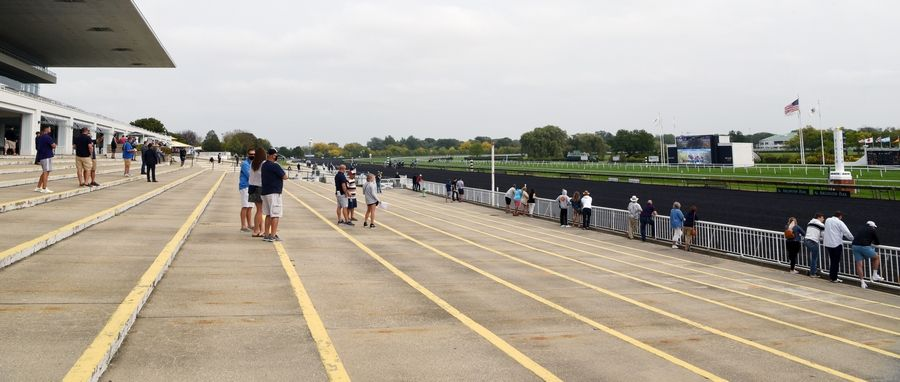 Arlington Park was limited to 300 fans in attendance, and tickets were sold out Saturday.