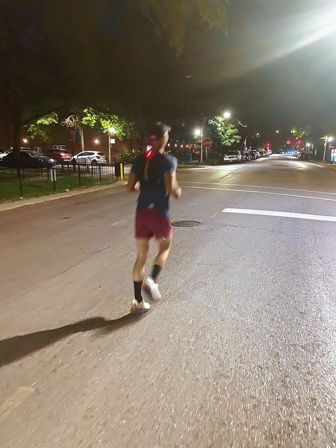 Running seven marathons in seven days takes training and planning. For a couple of the runs, Lisle native Peter Krzywosz started at 4 a.m.