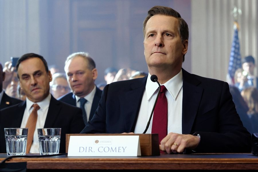 "Jeff Daniels stars as former FBI Director James Comey in ""The Comey Rule,"" airing Sunday and Monday on Showtime."