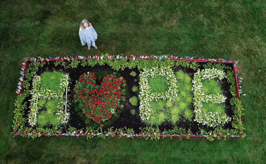 "Tracey Duda, of Glenview created a ""Victory Garden"" to provide hope during the COVID-19 pandemic."