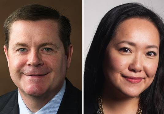 Republican incumbent Grant Wehrli, left, and Democrat Janet Yang Rohr are vying for the 41st state House seat.