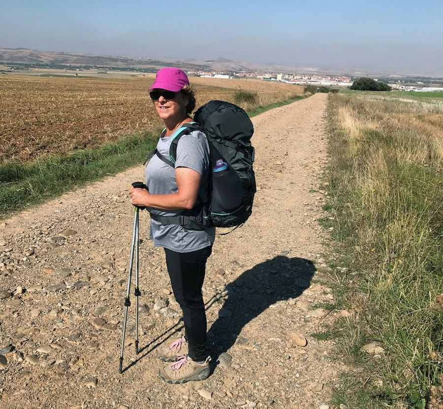 Hawthorn Woods resident Leslie Ferris Yerger during her 500-mile walk on the Camino de Santiago in Spain two years ago that she used to mentally prepare for her fight against metastatic breast cancer.