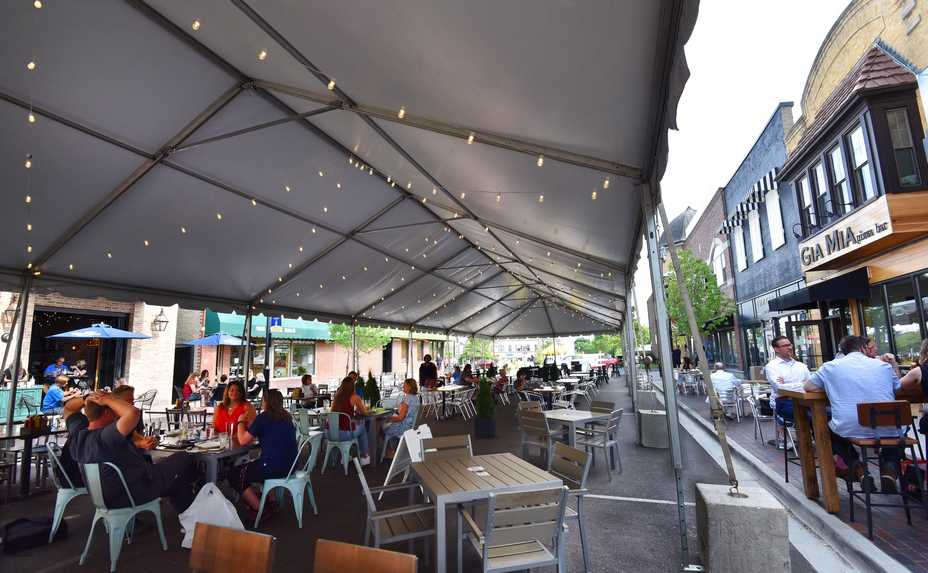 Wheaton will continue blocking off Hale Street so restaurants can continue offering outdoor dining into the colder months.