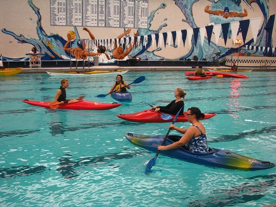 Introduction to Kayaking and Rolling is one of the new classes offered by District 128 Community Education this fall.
