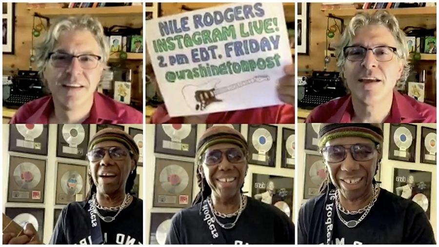 Geoff Edgers and Nile Rodgers chatted on Instagram Live on Sept. 11.