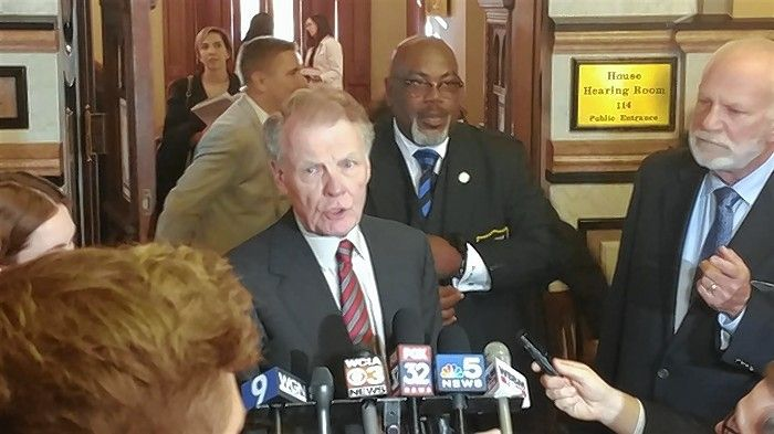House Speaker Michael Madigan has been implicated in the ComEd bribery scheme but has not been criminally charged. He denies any wrongdoing.