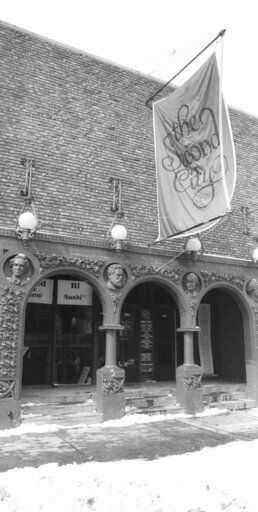 FILE - This March 6, 1982, file photo, shows the home of the famed improvisational troupe, Second City, in Chicago's Old Town section. Chicago's Second City comedy theater is up for sale. The sale, announced Tuesday, Oct. 6, 2020, is the second in the company's 60-year history.
