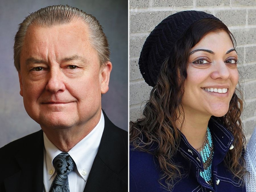 Donald Puchalski and Zahra Suratwala are candidates for a District 1 seat of the DuPage County Board in the Nov. 3 election.