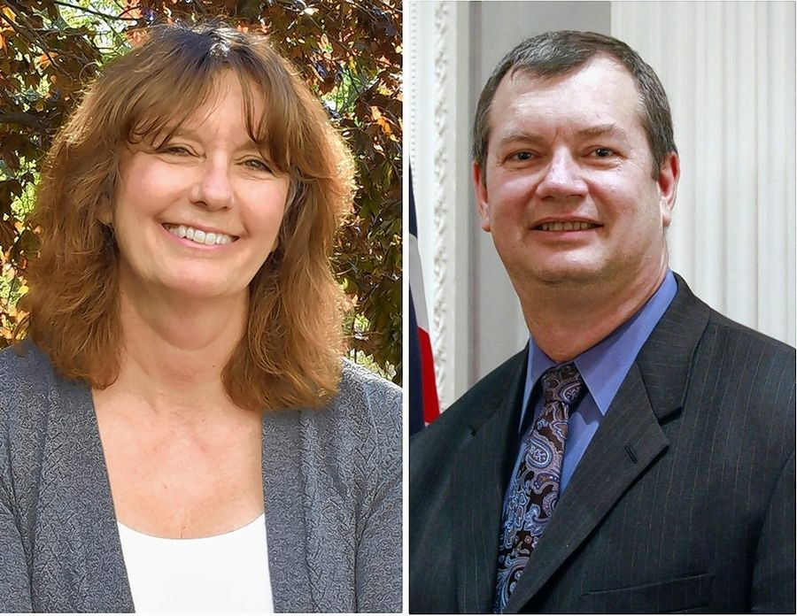 Gail Cabala-Lowry and Brian Krajewski are candidates for a District 3 seat of the DuPage County Board in the Nov. 3 election.