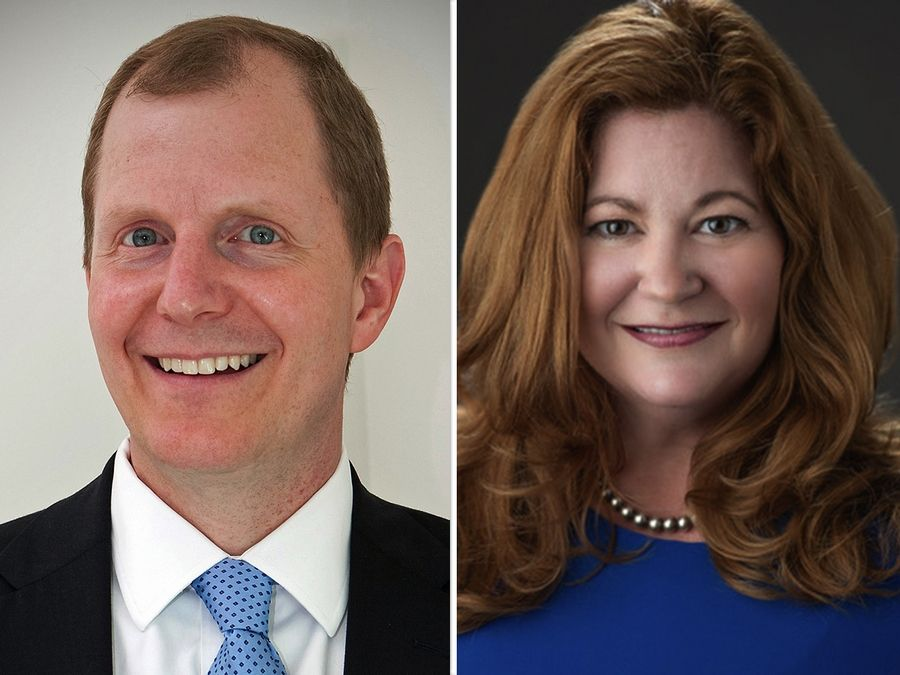 Tim Elliott and Lynn LaPlante are candidates for a District 4 seat of the DuPage County Board in the Nov. 3 election.