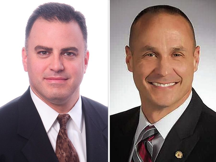 Robert Larsen, left, and Greg Schwarze are candidates for a District 6 seat of the DuPage County Board in the Nov. 3 election.