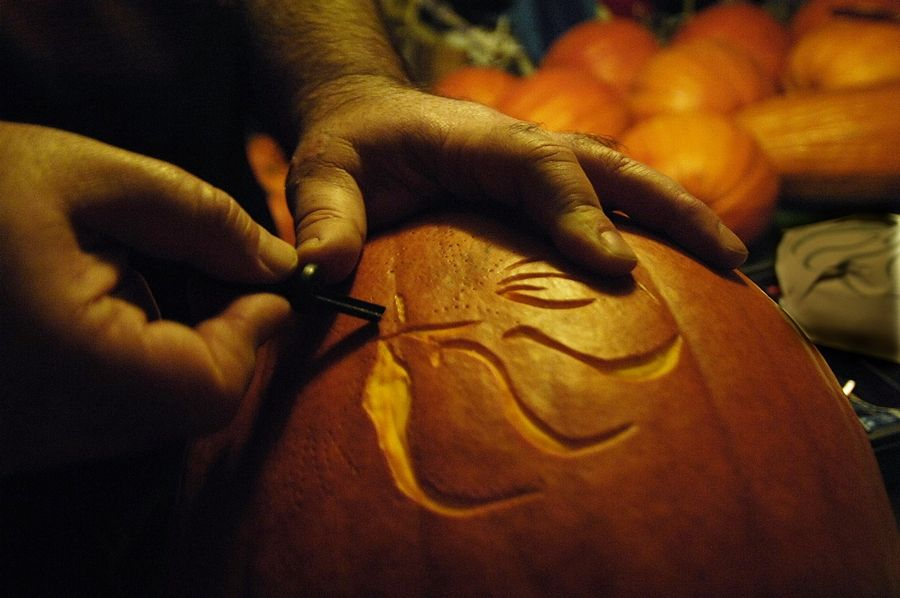 "As part of the Big Timber Pumpkin Fest, learn how to ""Sip & Carve"" on Friday and Saturday, Oct. 16-17. Enjoy a glass of wine while a local artist shows how to carve your pumpkin."