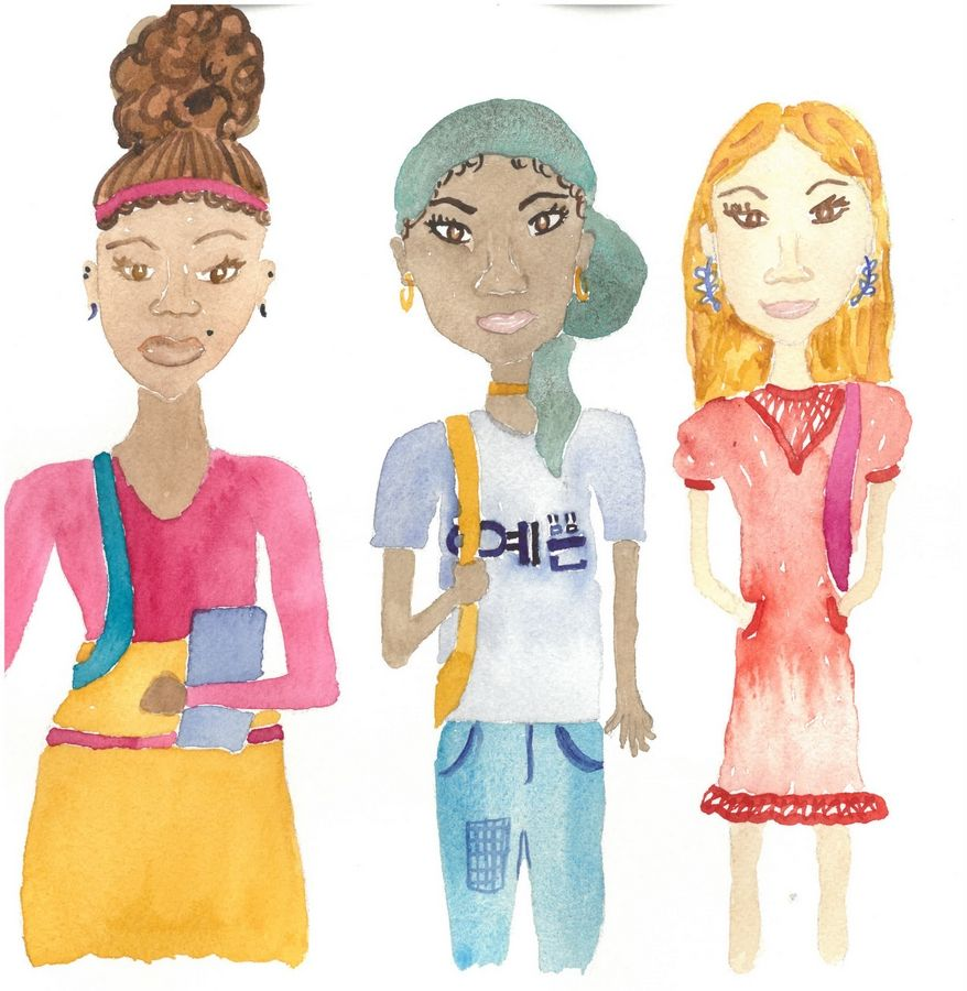 "Glenbard West High School student Gizlangba Gbor contributed illustrations to ""Margaret's Child,"" a proposed children's book with tie-in hair care products."