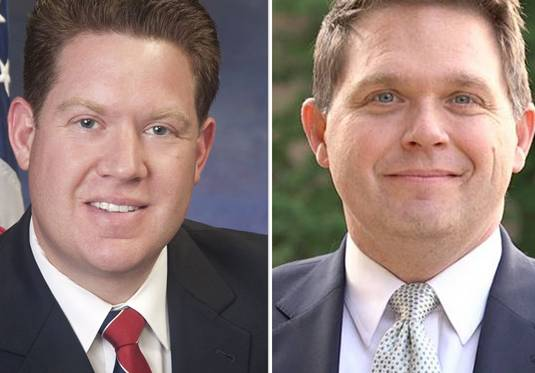 Republican Michael Nerheim, left, and Democrat Eric Rinehart are running for Lake County state's attorney.