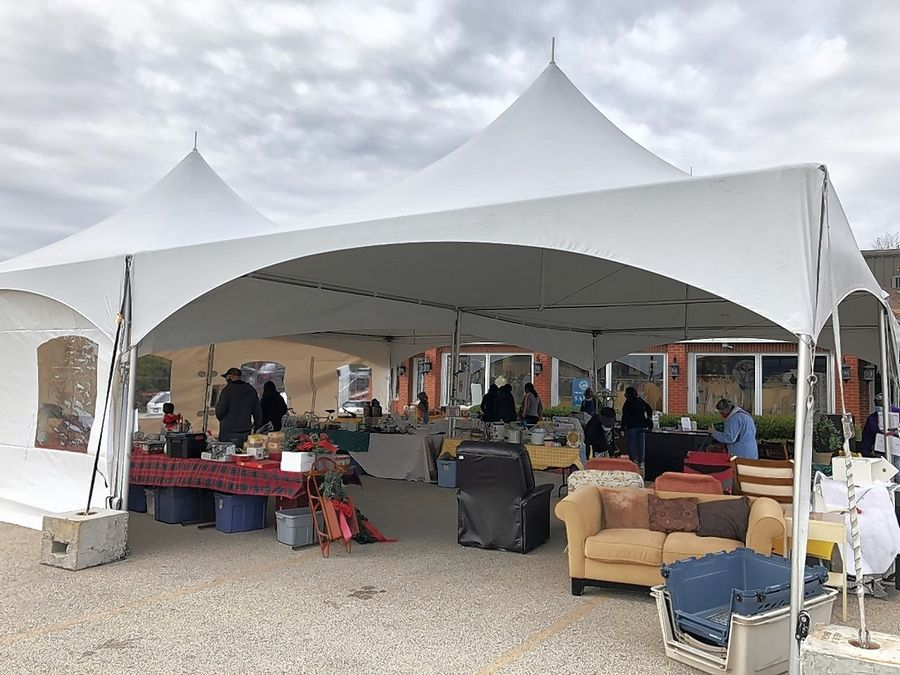 The Society of St. Vincent de Paul Archdiocese is hosting a tent sale this weekend at its thrift store in Libertyville.