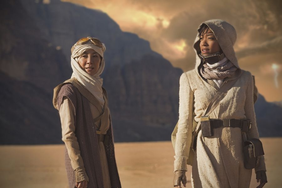 "Capt. Philippa Georgiou (Michelle Yeoh), left, and First Officer Michael Burnham (Sonequa Martin-Green) return in ""Star Trek: Discovery."""