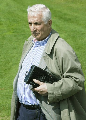 File-In this May 1, 2009, file photo Minneapolis Star Tribune columnist Sid Hartman is shown at the Minnesota Vikings football rookie minicamp in Eden Prairie, Minn. The Minnesota sports columnist and radio personality, Hartman, an old-school home team booster who once ran the NBA's Minneapolis Lakers and achieved nearly as much celebrity as some of the athletes he covered, died Sunday, Oct. 18, 2020. He was 100.