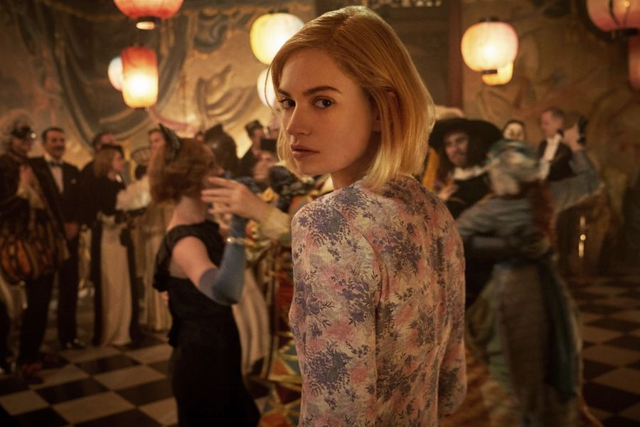 "Lily James stars in ""Rebecca,"" premiering Wednesday on Netflix."