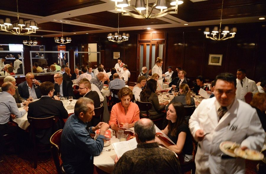 The dining room room was packed when Gene & Georgetti opened in Rosemont on July 22, 2015. The steakhouse's last day of operation will be Oct. 31.