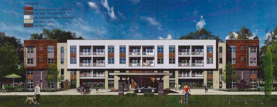 Greystar, a South Carolina-based real estate company, is proposing age-restricted luxury apartments on nearly 11 acres that includes the vacant AMC movie theater at 555 Lakeview Parkway in the Continental Executive Parke.
