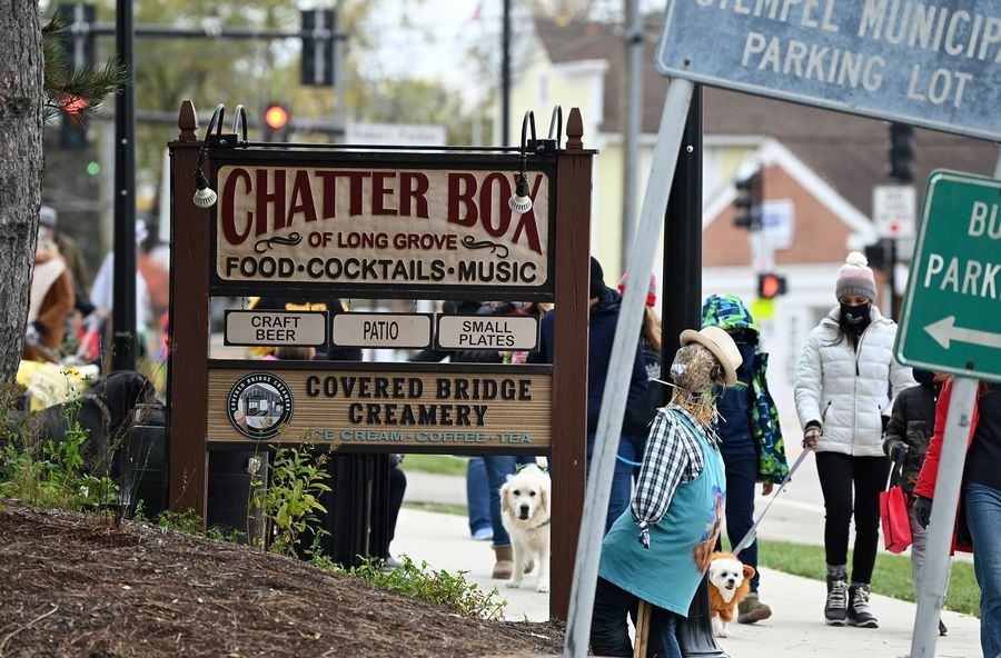 Downtown Long Grove hosted its third annual Pet Costume Parade on Sunday. About 80 dogs -- and at least one pig -- joined their human companions for the march.