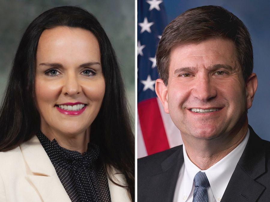 Republican Valerie Ramirez Mukherjee, left, and Democrat Brad Schneider are the candidates for Illinois' 10th Congressional District seat.