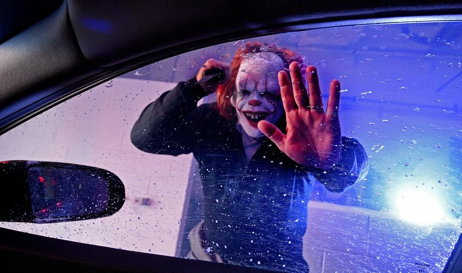 "Brittain's Car Wash hosts the ""Tunnel of Terror"" haunted fundraising car wash Wednesday through Saturday in Elgin. It's $20 for the premium wash in addition to scares and special effects, and $5 goes to Food for Greater Elgin."