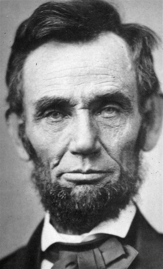 Perhaps showing the strain of presiding over a country torn asunder by the Civil War, Abraham Lincoln posed for this Alexander Gardner photo on Nov. 8, 1863.