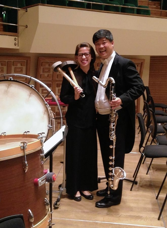"Molly Yeh and John Bruce Yeh were guest soloists with the Hong Kong Philharmonic Orchestra for a 2013 concert commemorating the centennial of Stravinsky's ""The Rite of Spring."""