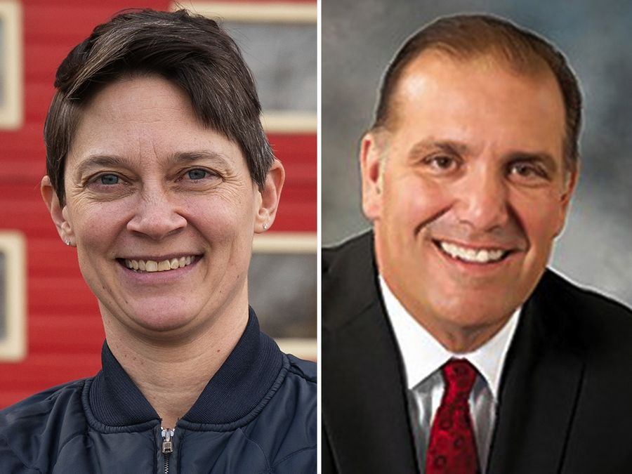 Michelle Darbro, left, and Brad Stephens are candidates for House District 20 in the 2020 election.