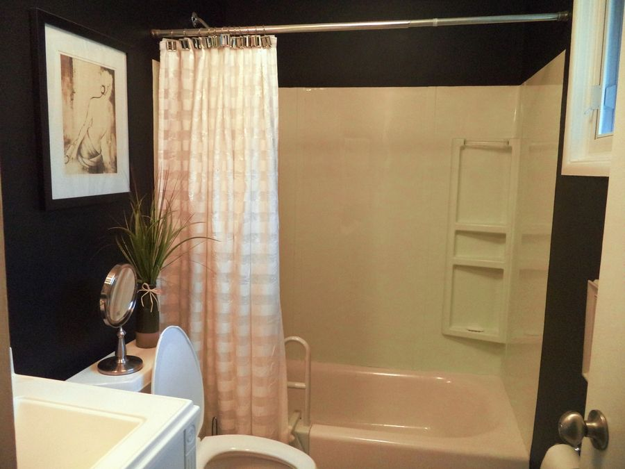 Laura Siracusa of Arlington Heights says her bathroom is one less thing she'd like to worry about.