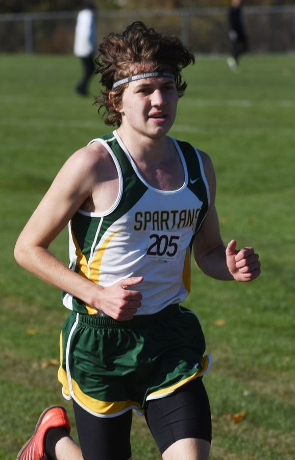 Glenbrook North's Nick Ihrke competes during the Class 3A Hoffman Estates cross country sectional Saturday.