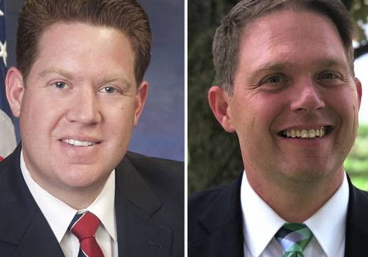 Michael Nerheim, left, and Eric Rinehart, right, are candidates for Lake County State's Attorney in the 2020 election.